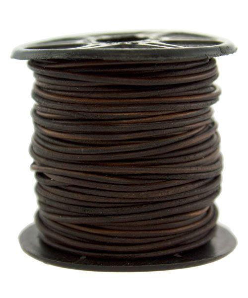 CD8502 = INDIAN LEATHER 1mm NAT DYE ANTIQUE BROWN (Pkg of 10ft)