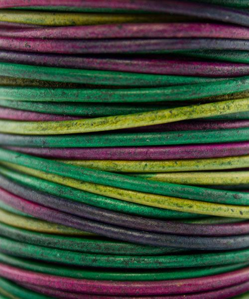 CD8555 = INDIAN LEATHER 2mm GYPSY DYED KINTE (Pkg of 10ft)