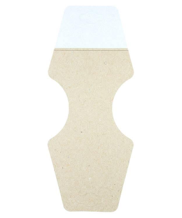 DCO850 = Necklace/ Bracelet/ Earring Hanging Card 2-1/4'' x 2-3/4'' Kraft (Pkg of 100)