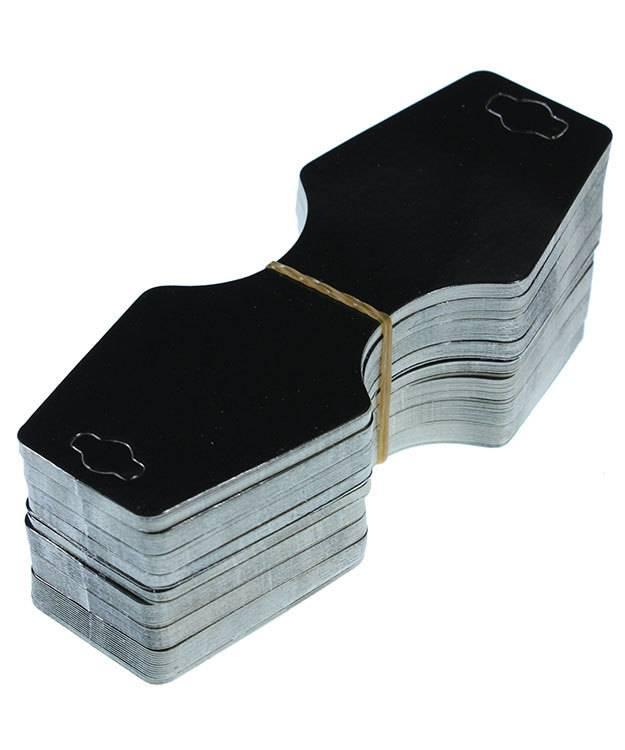 DCO800 = Necklace/Bracelet Hanging Card 2-1/4'' x 2-3/4'' Black (Pkg of 100)