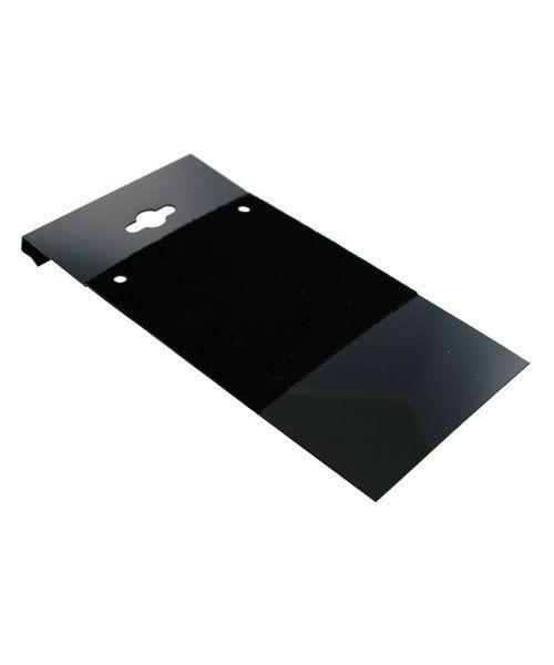 DCH800 = Hanging Necklace Card Black  2 x 4''  ''PLAIN'' (Pkg of 100)