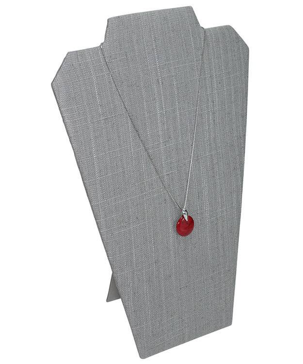 DCH7602 = Grey Linen Necklace Easel 8-1/4''W x 12''H