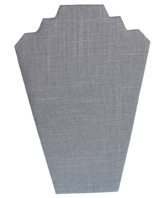 DCH7601 = Grey Linen Necklace Easel 8-1/4'' wide x 12'' high