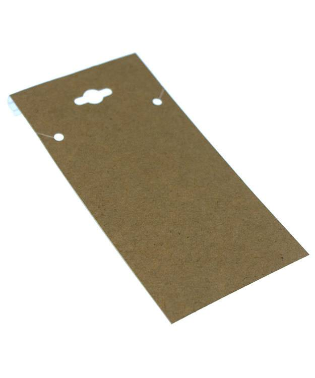 DCH750 = Hanging Necklace Card Kraft Paper Covered  2 x 4''  ''PLAIN'' (Pkg of 100)
