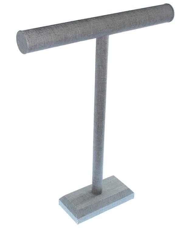 DCH7194 = Grey Linen Necklace Bar 14'' wide x 18'' high