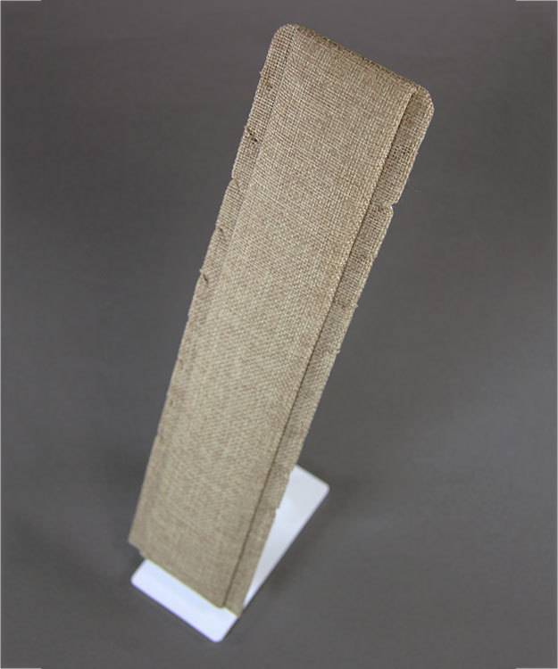 DCH3991 = Burlap Necklace Easel Display 2-7/8'' x 5'' x 12-1/8'' high