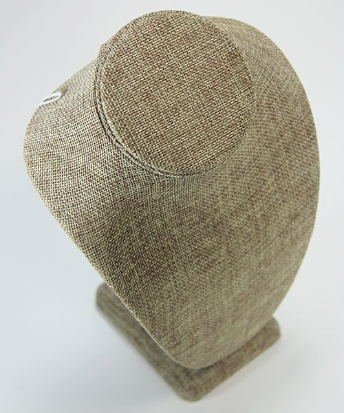 DCH3897 = Burlap Necklace Display 6-1/2'' wide x 10'' high