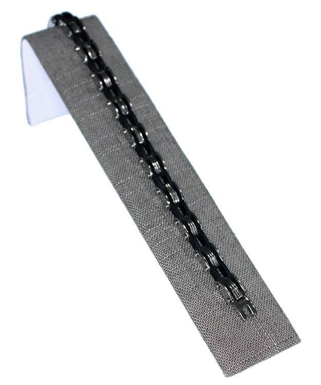 DBR7239 = Grey Linen Single Bracelet Ramp 1-1/2'' x 7-3/4''  (Pkg of 3)