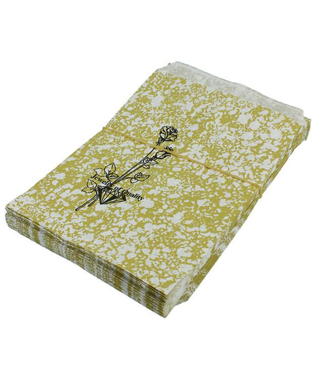 DBG1163 = Paper Gift Bag Gold and Black Pattern 5'' x 7'' (Bundle of 100)