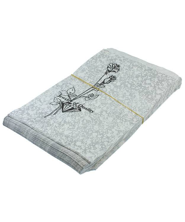 DBG1154 = Paper Gift Bag Silver and Black Pattern 6'' x 9'' (Bundle of 100)