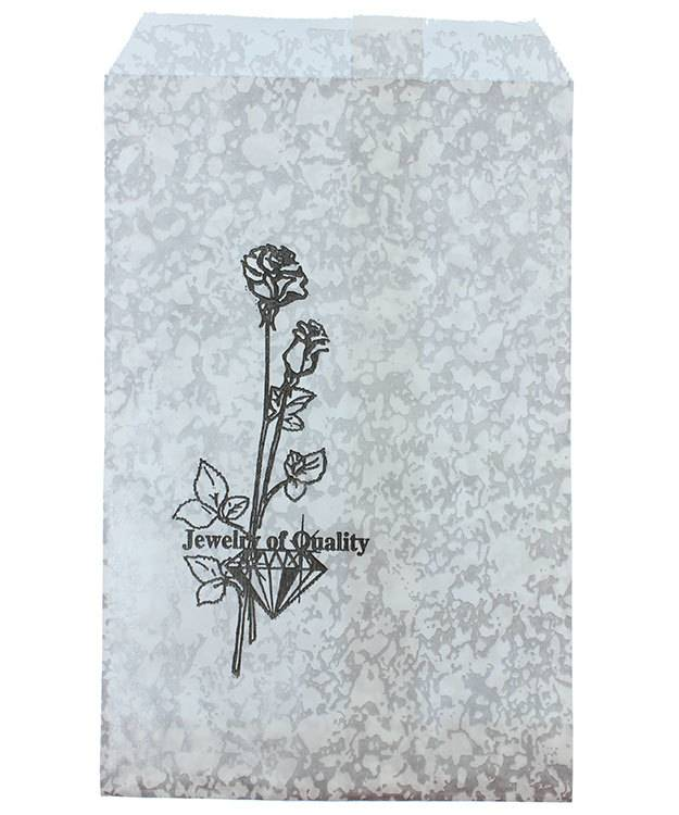 DBG1151 = Paper Gift Bag Silver and Black Pattern 4'' x 6'' (Bundle of 100)