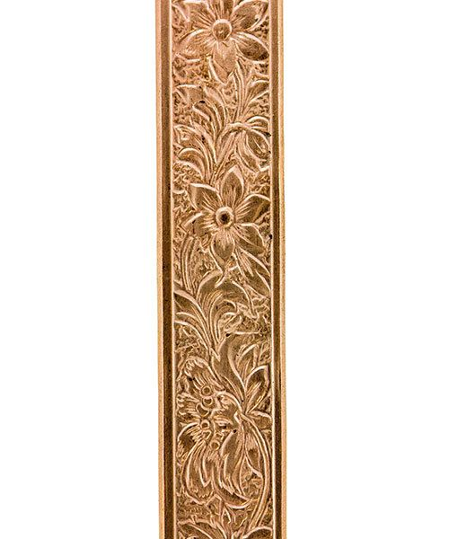 CPW105 = Copper Pattern Wire - FLOWER 0.89 x 7.64mm - 1 foot piece