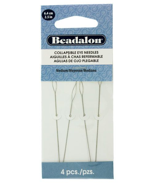"Collapsible Eye Needles 2.5/"" 4//pkg-medium"