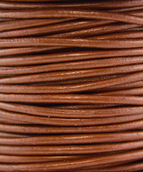 CD8652 = INDIAN LEATHER 2mm METALLIC COPPER (Pkg of 10ft)