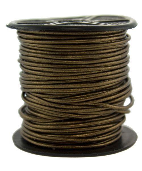 CD8603 = INDIAN LEATHER 1mm METALLIC KANSA (Pkg of 10ft)