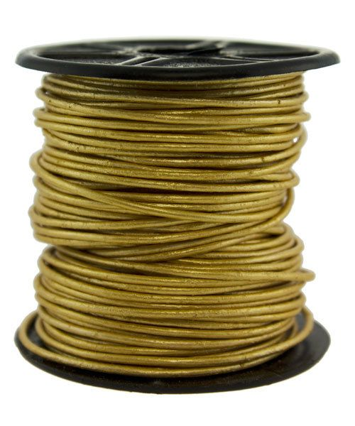 CD8601 = INDIAN LEATHER 1mm METALLIC GOLD (Pkg of 10ft)