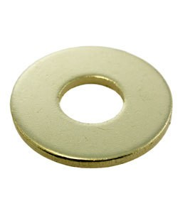"""MSBR18312 = Brass Washer 1"""" Dia with 3/8"""" Hole (12ga) (Pkg of 6)"""