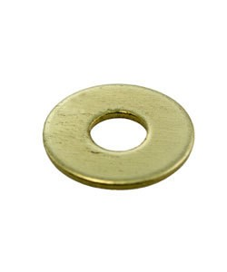 "MSBR15417 = Brass Washer 11/16"" Dia with 1/4"" Hole (17ga) (Pkg of 12)"
