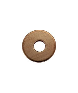MSC16219 = Copper Washer 10.3mm Dia with 3.5mm Hole (19ga) (Pkg of 12)