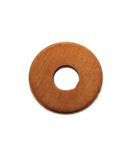 MSC15916 = Copper Washer 12.7mm Dia with 4.5mm Hole (16ga) (Pkg of 6)