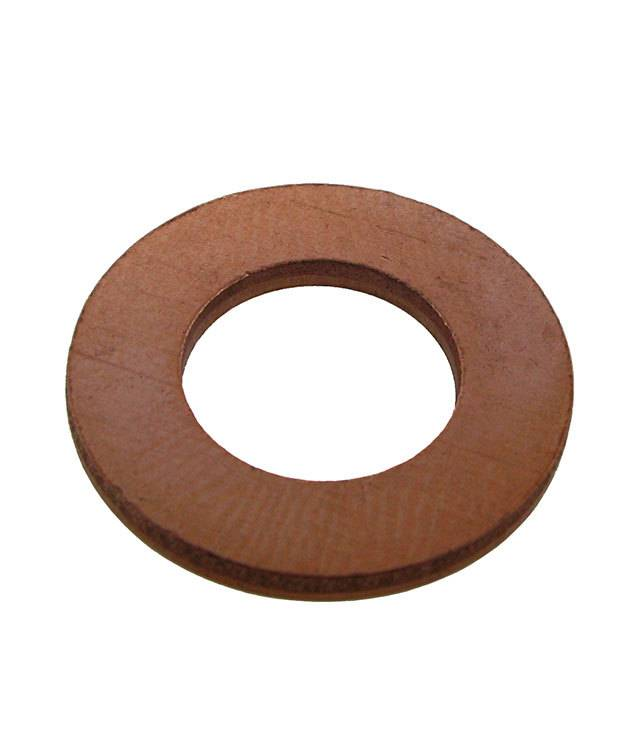 "MSC15614 = Copper Washer 13/16"" Dia with 3/8"" Hole (14ga) (Pkg of 6)"