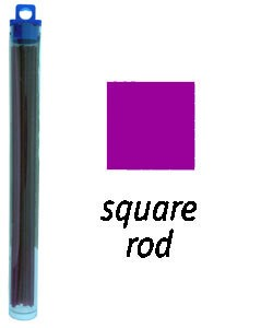 CA1961 = Cowdery Wax SOLID SQUARE 3.0mm - PURPLE