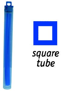 CA1929 = Cowdery Wax SQUARE TUBE 4.5mm - BLUE