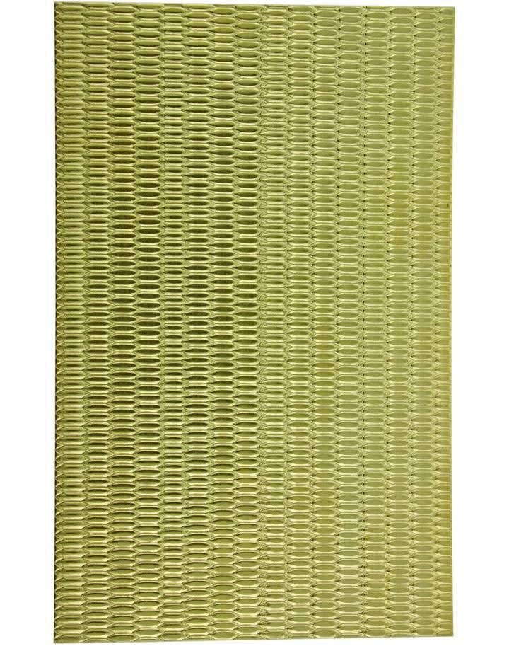 """BSP236 Patterned Brass Sheet 2-1/2"""" Wide"""