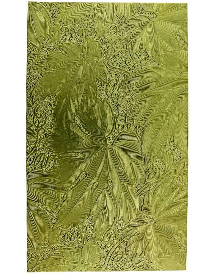 "BSP241 ""Leaf"" Patterned Brass Sheet 2-1/2"" Wide"