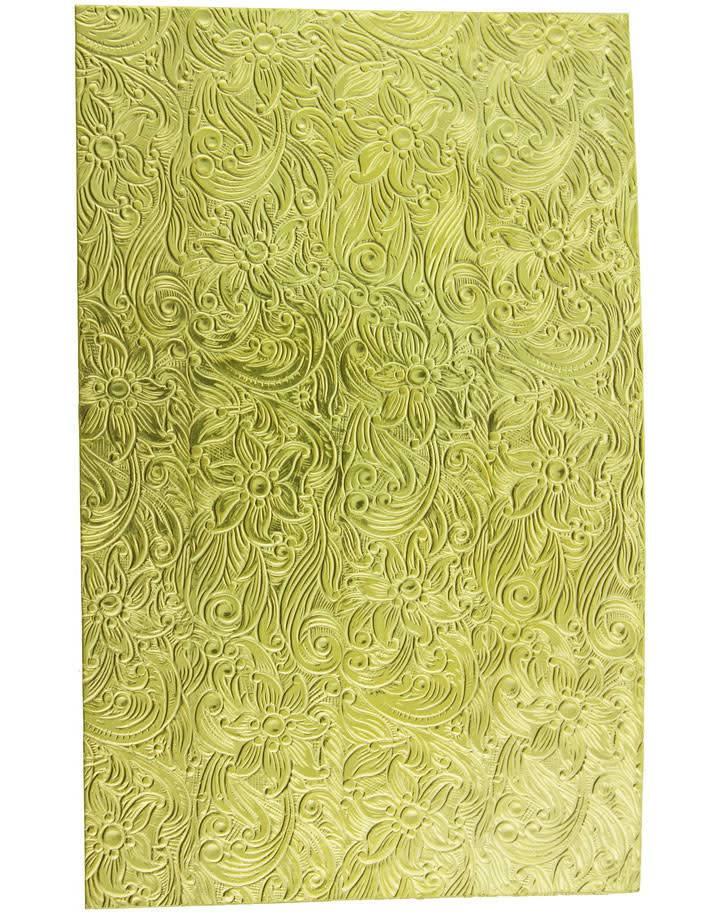 """BSP245 Patterned Brass Sheet 2-1/2"""" Wide"""