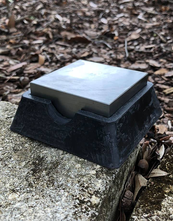 AN520 = Steel Bench Block with Removable Rubber Base 2-1/2'' x 2-1/2''