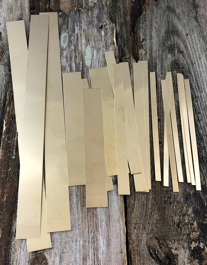 BS18 Red Brass Strips 18ga (Choose Size)