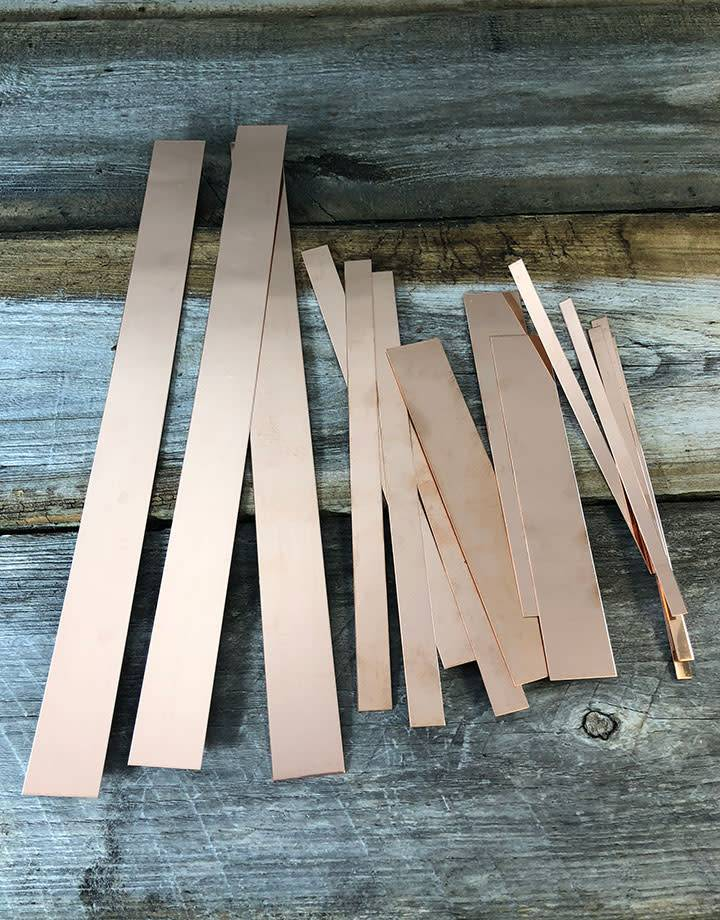 CS20 Copper Strips 20ga (Choose Size)