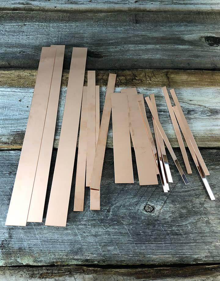 CS26 Copper Strips 26ga (Choose Size)