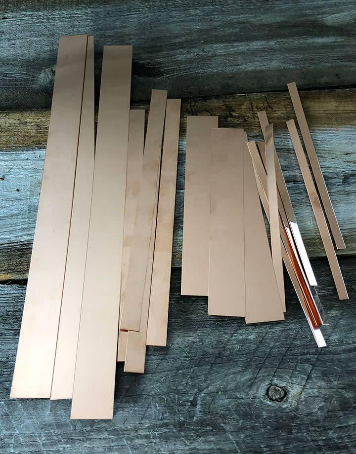 CS28 Copper Strips 28ga (Choose Size)
