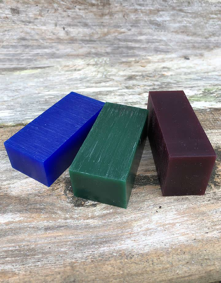 Du-Matt 21.02750 = DuMatt Carving Wax 3 Bars (1/2lb) One of Each Color