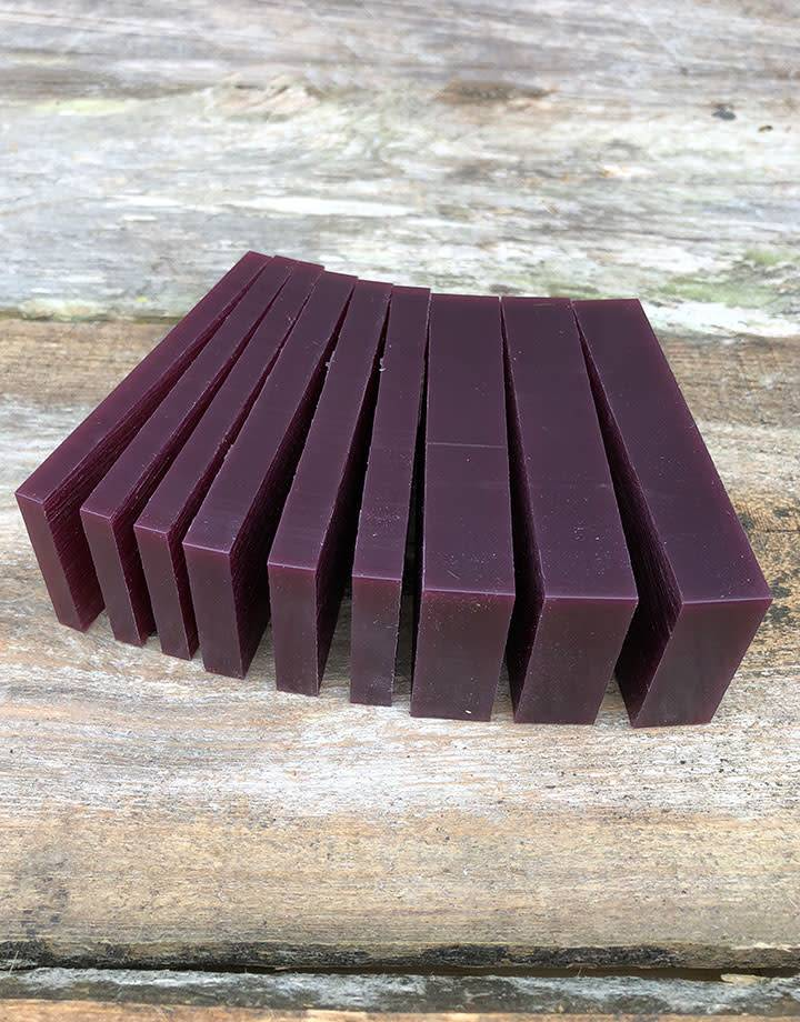 Du-Matt 21.02766 = DuMatt Puple Carving Wax Slices (1/2lb)