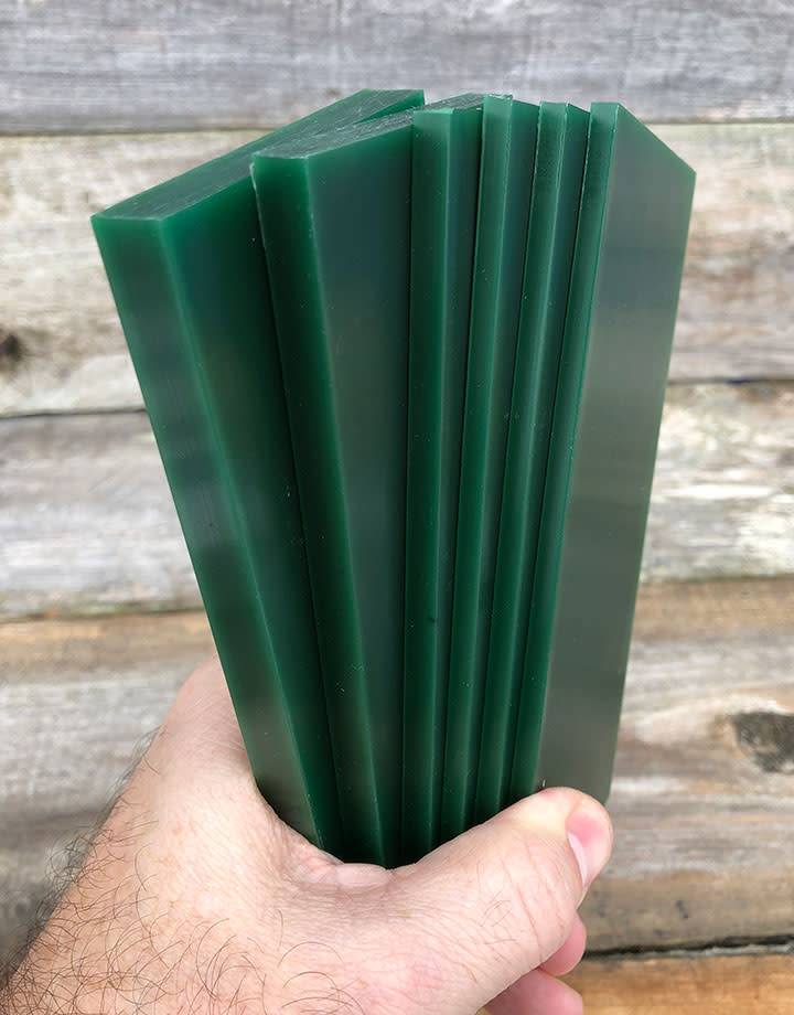Du-Matt 21.02775 = DuMatt Green Carving Wax Tablets Set of 6