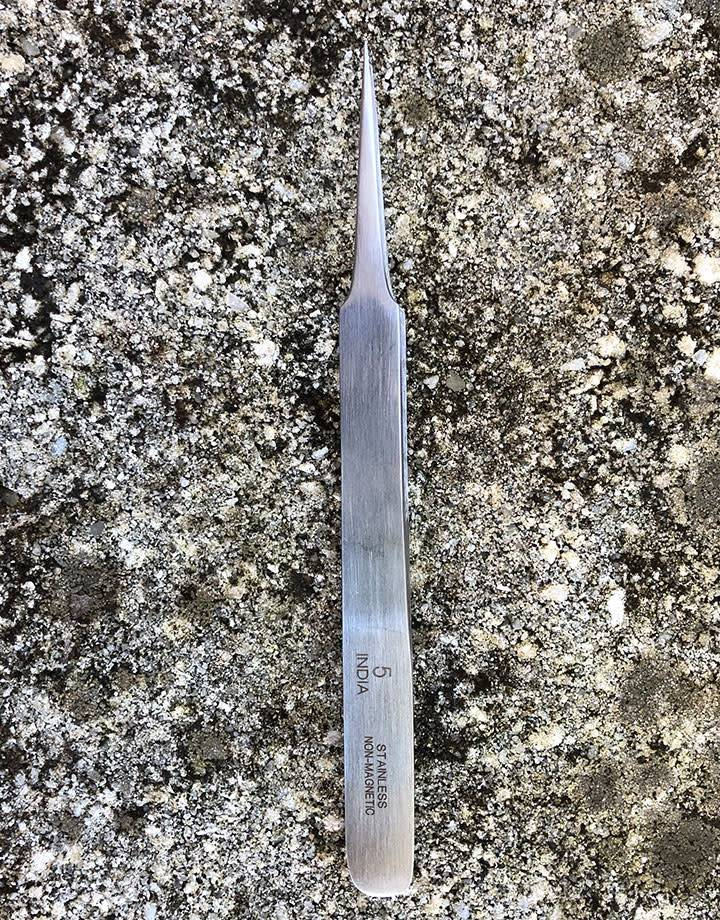 57.0755 = Tweezer #5 Stainless Steel  4-3/4''