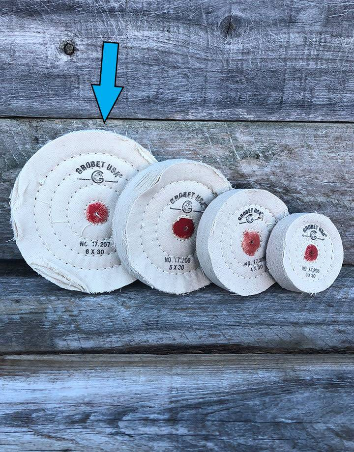 Grobet USA 17.207 = Cotton Flannel Buff 6''x30 Ply