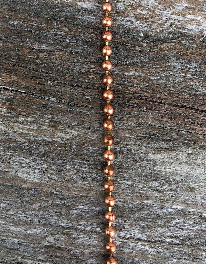 800CU-03 = Copper Chain 2.0mm wide BALL (FOOT)