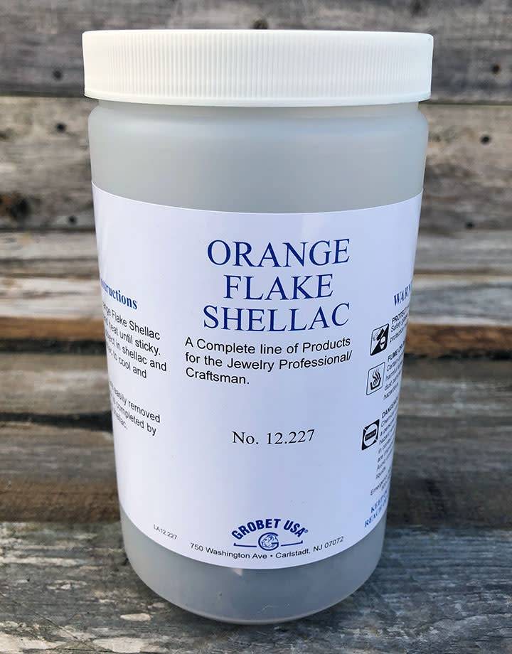 12.227 = Orange Flake Shellac 6oz