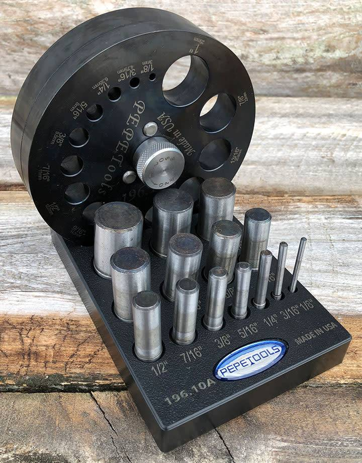 PEPE Tools 25.198 = Disc Cutter Set of 14 Different 1/8'' to 1'' By PEPE Tools
