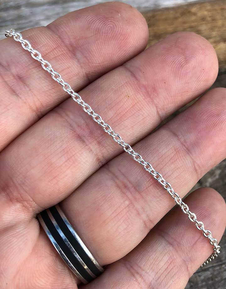 800SF-05 = SILVER FILLED 2.3mm CABLE CHAIN