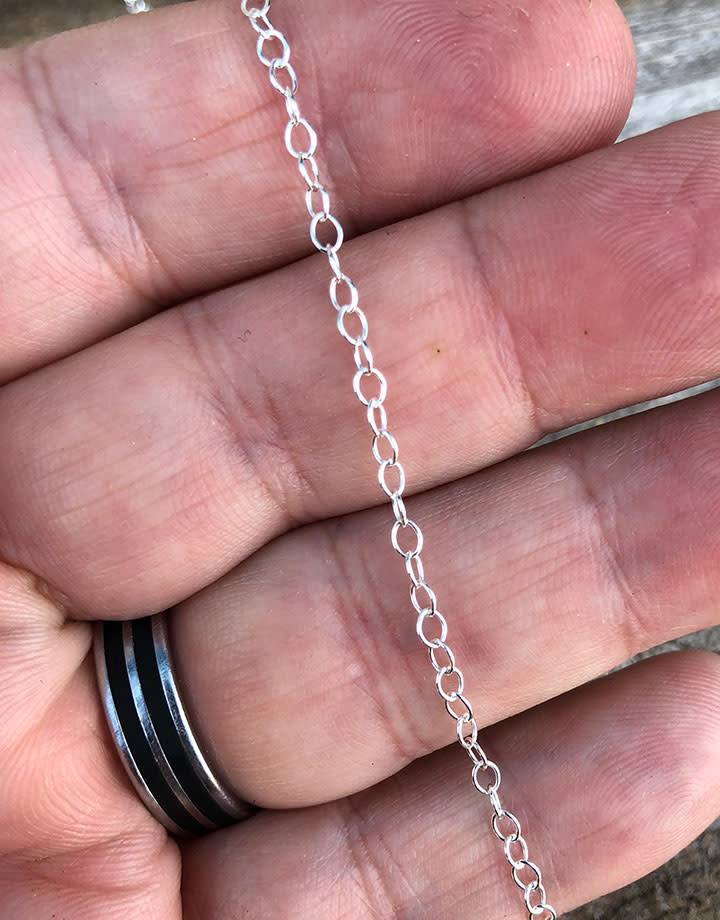 800SF-08 = SILVER FILLED 2.4mm CABLE CHAIN