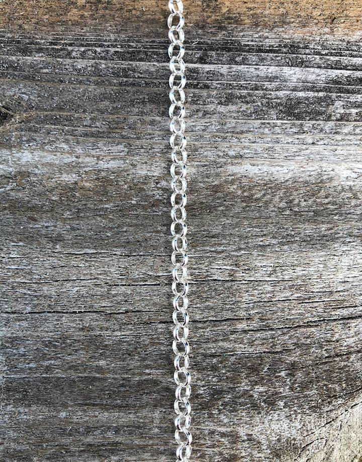 800SF-14 = SILVER FILLED 4.0mm ROLO CHAIN (per foot)