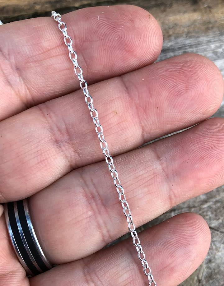 800SF-15 = SILVER FILLED 2.0mm ROLO CHAIN (per foot)