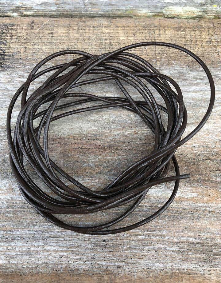 CD9504 = GREEK LEATHER 2.0MM BROWN (10ft)