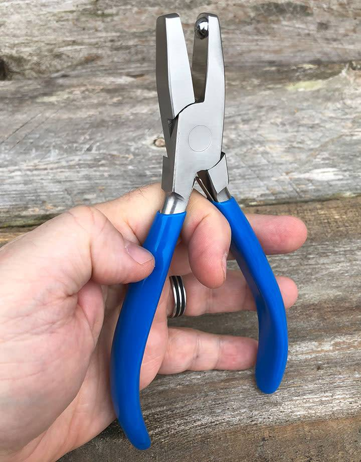 PL1385 = DIMPLE PLIERS with FLAT JAW 7mm