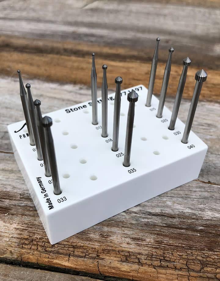Panther Burs 77.1497 = Setting Bur Set Tungsten/Vanadium (1.0 to 4.0mm) 12pcs